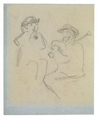 deux joueurs de cornemuse by paul gauguin