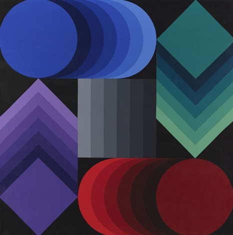 stri dio n° p 873 by victor vasarely