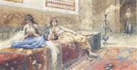 a harem interior by francesco de maria