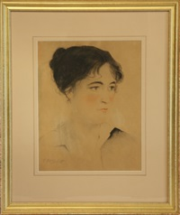 portrait of a woman by charles william bartlett