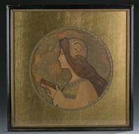 femme au livre by jane atche