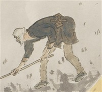 spring plowing by gyokudo kawai