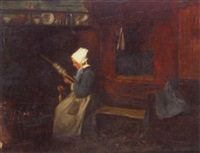 lady at the loom by alfred victor fournier