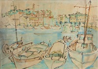 fishing boats, cannes by louis kahan