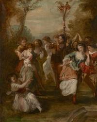 la danse de l'arbre de mai by camille joseph etienne roqueplan