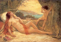 venus and cupid by louis courtat