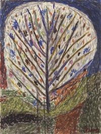blühender obstbaum nach van gogh by anton dobay
