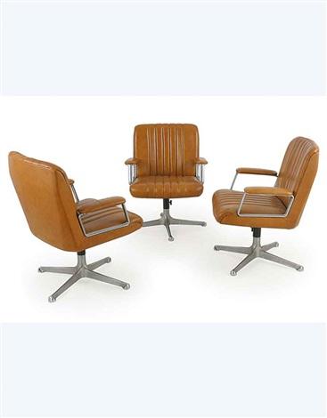 Poltrone da ufficio p126 p126 armchairs3 works by osvaldo - Poltrone da ufficio ...