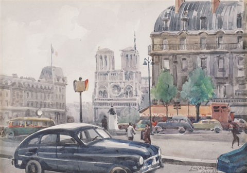 paris place du s michel by emilio kalchschmidt