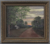landscape at sunset by charles taylor bowling