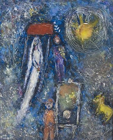 La mariée au soleil by Marc Chagall on artnet
