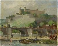 würzburg, mainbrücke und marienfeste by richard gessner