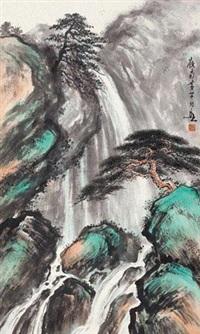 松壑飞瀑 by huang huanwu