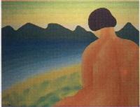 mujer desnuda frente al mare by josé telmo lodeiro