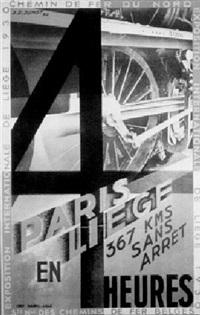 chemin de fer du nord: paris liège en 4 heures by j. p. junot