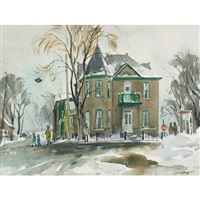 old house, lakeshore rd by henry john simpkins