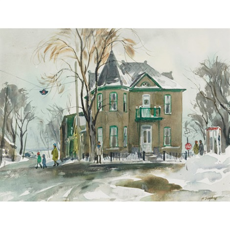 old house lakeshore rd by henry john simpkins