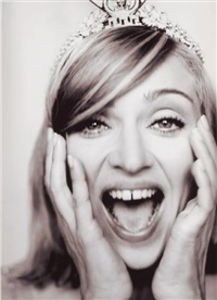 madonna wearing a crown by mario testino