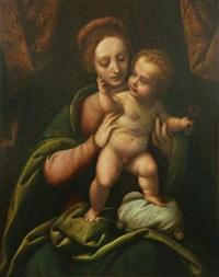 the madonna and child by bernardino lanino