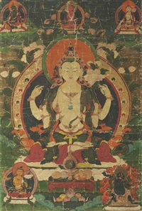 chaturbhuja avalokiteshvara by anonymous-tibetan (18)