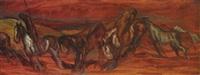 horses by anton lock