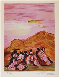 mountain dancers, de mexican suite (portfolio of 10) by david alfaro siqueiros