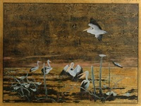 birds in the water by donald green