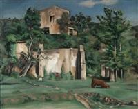 environs de lourmarin by gabriel francisque alexis fournier