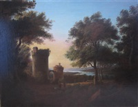 italianate river landscape by alexander nasmyth