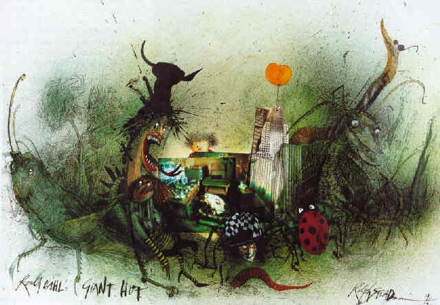 roald dahls giant hut by ralph idris steadman