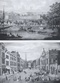 the royal crescent and lansdowne crescent, bath by e. pegram