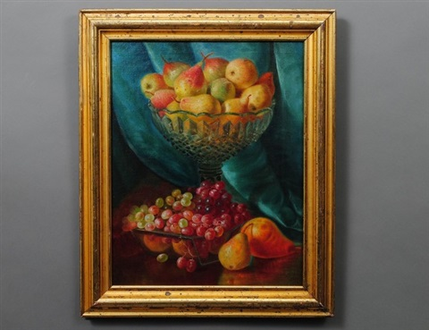 still life with pears and grapes by john christopher miles