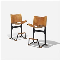 bar stools (pair) by max jules gottschalk