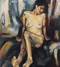 人体 (female nude) by lin jiabing