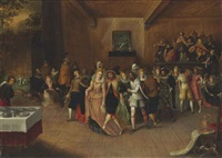 dancers and musicians in an interior by hieronymus francken the younger