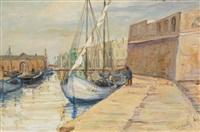 le vieux port de pêche de bizerte by n. markoff