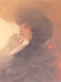 a woman smoking by ange jacques supparo