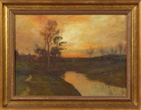 evening by the salt marshes by edward b. gay