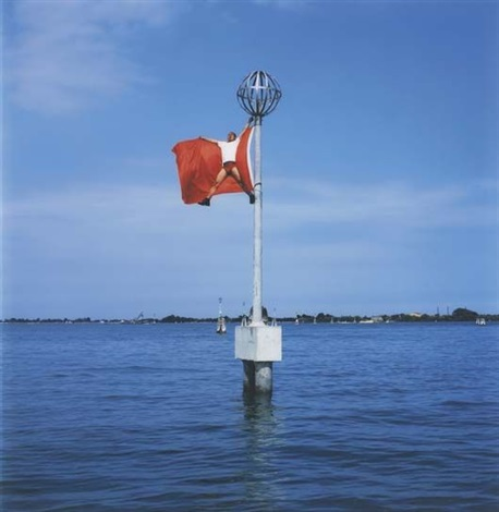 flag venice by li wei