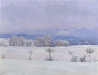 winter landscape by frantisek kavan
