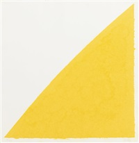 color paper image xiv (yellow curve) by ellsworth kelly