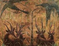 antilopes et oiseaux by kibwanga mwenze