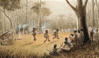 aboriginal corroboree by edward roper