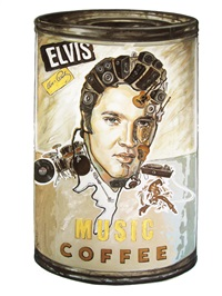 music coffee - elvis presley no. 1 by zhou chi