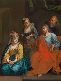 christus bei maria und martha by johann jakob anton von lenz