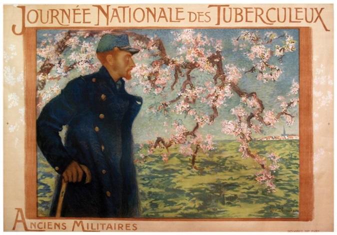 journée nationale des tuberculeux anciens militaires devambez paris by lucien lévy dhurmer