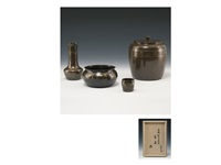 tea ceremony tools (set of 4) by hongo toshihiko