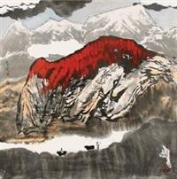 深山放牧 by bai gengyan