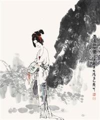 游春仕女图 by guo wentao