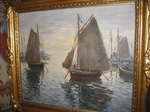 docked sailboats by arturo pacheco altamirano